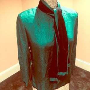 Vintage silk blouse and matching scarf